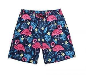 STEAM PANDA Beach Shorts Summer Large Size (M, L, XL, XXL) Palm Leaf Flamingo Impression Graphique Short Rapide
