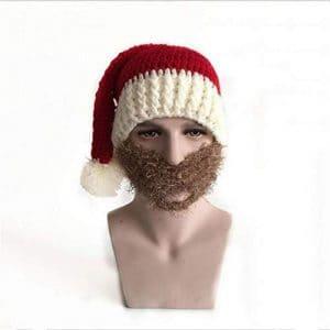 STZHIJIA Chapeau De Noël avec Moustache Chapeau De Noël Cadeau Nouvel an Santa B