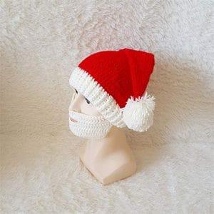 STZHIJIA Chapeau Tricoté Chapeau Noël Fête De Famille Moustache Nouvelle Année Cadeaux B