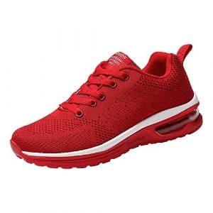 zapatatos Sports plats sangle pour femme, sonnena modèles de Couple Qui vuelan Les chaussures en maille tissé avec Cordons chaussures décontractées chaussures de sport 40 Rouge