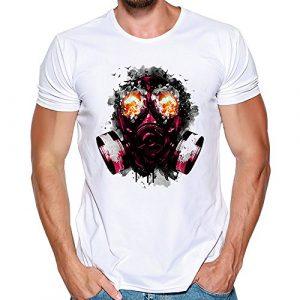 Amlaiworld T-Shirt Hommes – Imprimé Chemise à Manches Courtes Humour Couple Sport Blouse Fashion Original Tops