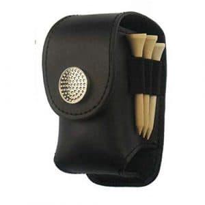 Faironly Sac de Golf Portable en Cuir délicat pour Petit Accessoire Noir