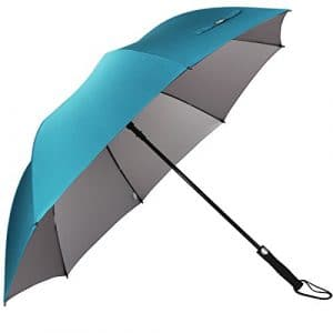 G4Free Grand Parapluie de Golf,Parapluie Grande Taille 60 Pouce Solide – Elégant Parapluie pour Homme Femme (Cyan)