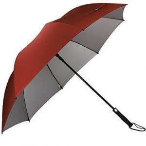 G4Free Grand Parapluie de Golf,Parapluie Grande Taille 60 Pouce Solide – Elégant Parapluie pour Homme Femme (Rouge)
