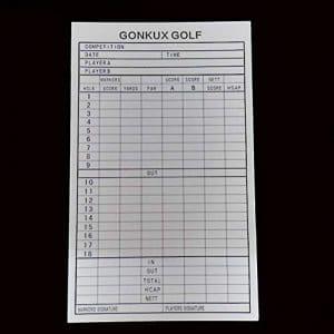 HATCHMATIC 2019 Vente en Gros Durable Pratique Golf 18 Trous Scorecard Golf Club Organisateur du Concours Golf Training Aids: comme Le Montre