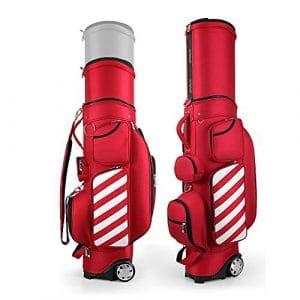 Linqly Sac de voiturette de Golf, avec Capuche Amovible de Pluie, 3,9 Pouces épaississement poulie, Casquette Multifonctionnel, D