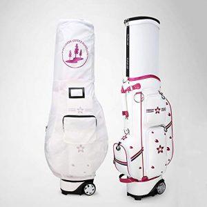 Linqly Sac de voiturette de Golf, Impression des Femmes avec Bouchon de Boule rétractable, remorqué imperméable à l'eau, 49.61 * 19.63 * Sac de Stand de Golf,A