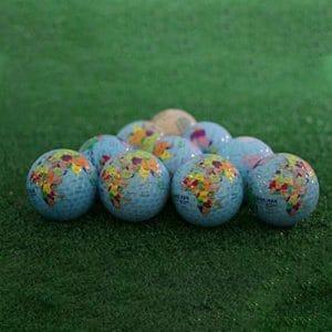 MYGYSJK Balle de Golf en Caoutchouc pour intérieur et extérieur Motif Carte du Globe, Multicolore