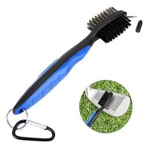 RUNACC Golf Club Outil de réparation Multifonctions pour réparation de rainures Durable Brosses de Nettoyage Pliable Doré, Bleu B