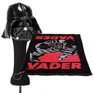 2PC Star Wars Serviette de golf et tête Coque Sporting Goods Ensemble d'accessoires (4Options), Darth Vader, Taille L