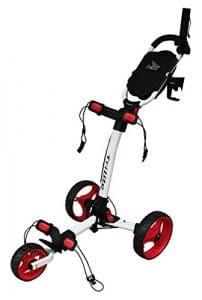 Axglo Trilite Chariot de Golf Mixte Adulte, Blanc/Rouge