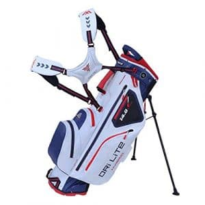 Big Max Dri Lite Hybrid 2019 Sac de Golf imperméable, White-Navy-Red