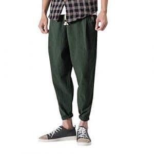 CIELLTE Pantalons Pantalons Homme Ample Trousers Harem Pantalon de Sport Grand Taille Pantalon de Travail Loisir Pantalon de Survêtement