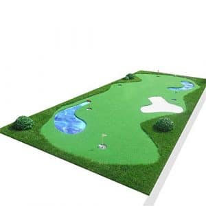 DorisAA Golf Putting Mat Vert Intérieur Extérieur Portable Épaississement Antidérapant Mini Golf Artificiel Vert Intérieur Tapis De Golf Aide à La Formation (Couleur : Thicken, Taille : 2 * 5m)