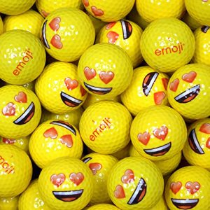 Emoji EMGBB002 Lot de 48 Balles de Golf Mixte Adulte, Blanc, N/A