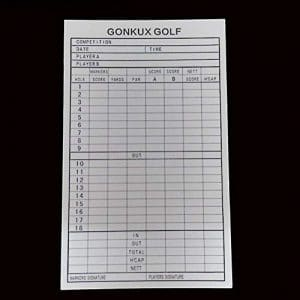 HATCHMATIC Nouveautés Durable 18 utile Scorecard Hole Golf Compétition Score Golf Club Organisateur Stroke Golf Training Aids Accessoires: comme Le Montre