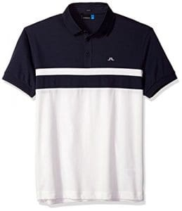 J.Lindeberg Homme 82MG539055216 T-Shirt de Golf – Bleu – Taille L