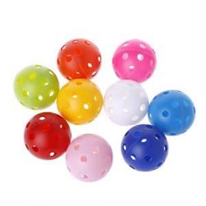 Longsw 1pcs Creux coloré Balles de Golf Enfants Jouant Jouet d'entraînement intérieur extérieur