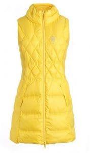SVG femmes Support de Collier slim fit long Gilet Doudoune de Golf d'hiver Casual de Golf pour femme – jaune – Large