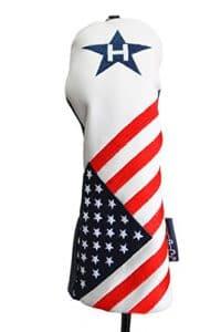 USA # 3hybride Patriot Golf Tête Coque édition limitée rétro patriotique Bleu Blanc Rouge Drapeau américain Couvre-fer