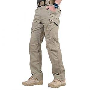 Wellouis Pantalon Long imperméable à l'eau pour Homme, avec Poches, Pantalons Amples
