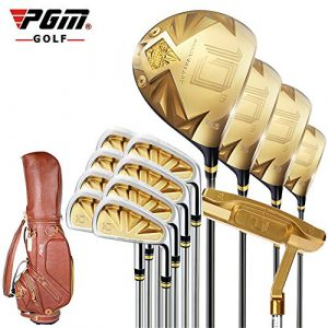 WHARMSS Club de Golf Hommes de Pôle Ensemble de Hommes Or Pôle De Golf Putter Costume 13PCS + Funda + Fundas Para Club,Gold
