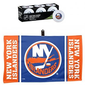 Wincraft Lot de 2 Articles : NHL New York Islanders 1 Serviette gaufrée de Golf 35,6 x 61 cm et 1 Manchon de 3 balles de Golf