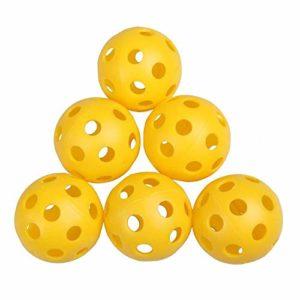 50 Pcs/Set en Gros en Plastique Élastique Balles De Golf Whiffle Airflow Creux Golf Pratique De La Formation Aids Accessoires De Sport Formation