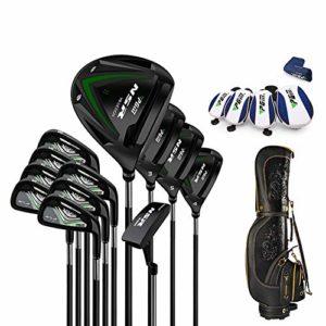 CNKSKXK-goif Set de Golf Ultra Light Rod, No.1 Bois + Bois de Parcours No. 3 + Fairway No. 5 + Ironwood Rod 3H + Tige de Fer + Putter + Sac de Golf,Carbonshaft,R