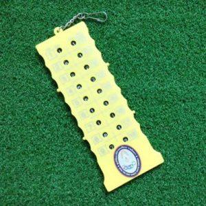 CUSHY 18 Hole Golf Stroke Tir Putt Score Contre Keeper avec Un Jeu de Porte-clés Pr: Jaune