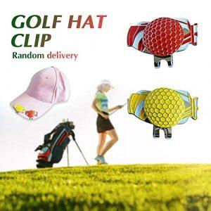 CUSHY C209 Golf Ball Marker Sac de Golf pour marqueur Balle Cadeau Kit Golf Golf Tool Cap Divot Clip pour Sports de Plein air Décoration