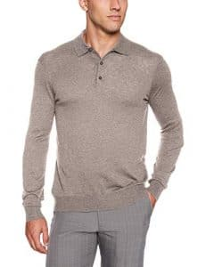 Greg Norman pour Homme Ombre L/S Pull Polo, Homme, G7F8S181, Eclipse Grey Heather, Petit