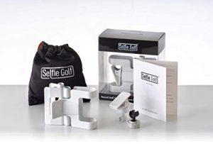 SelfieGolf Record Golf Swing Support de clip pour téléphone portable et accessoires d'aide à l'entraînement Gagnant du prix du meilleur produit de la PGA Quick Set Up