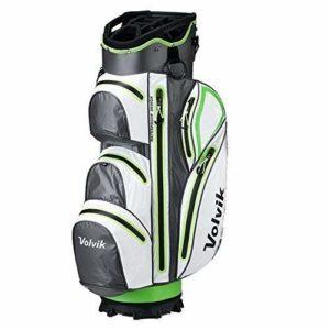 Volvik Vibe Imperméable Sac de Golf – Blanc/Citron Vert/Gris, One Size