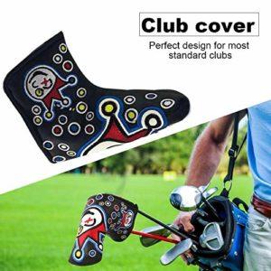AIMERKUP Zigtee PU Cuir imperméable Protecteur de Couvre-Chef de Club de Golf de Style de Broderie Friendly