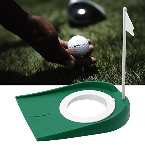 Diuspeed Golf Putting Practice en Plastique Coupe Golf Put Green Regulation Trou de la Coupe avec Drapeau Pratique en intérieur Techniques Plus précises Outils de Formation