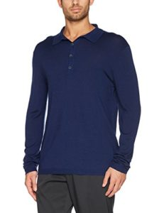 Falke 37827 Polo Homme, Dark Night, FR : L (Taille Fabricant : L)