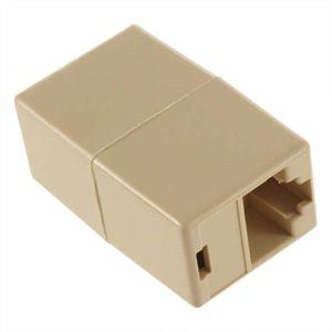 Fannty Nouveau connecteur de coupleur à Joint de câble LAN Ethernet Cat 5 5E RJ45