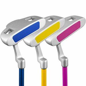 Fournitures de Golf Golf Putter Golf Practice Club Clubs d'enfants Pôles d'exercice pour Filles pour garçons de 3 à 5 Ans, de 6 à 8 Ans et de 9 à 12 Ans (Couleur : 3-5Age-red, Taille : Carbon Rod)