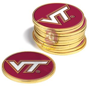 NCAA Virginia Tech Hokies – Lot de 12 marqueurs de balle