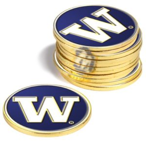 NCAA Washington huskies – Lot de 12 marqueurs de balle