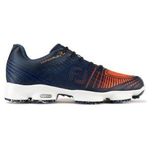 Footjoy Hyperflex II, Chaussures de Golf Homme, Multicolore (Bleu/Orange), 44 EU
