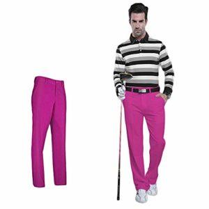 HNAKET Pantalons de Loisirs pour Hommes, Pantalons Minces Respirants d'été Pantalons Droits, Pantalons de Golf colorés imperméables pour Sports Vêtements XXS-XXXL,RoseRed,S