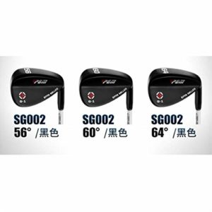 Leaysoo Coins de Golf en Acier Inoxydable Clubs de Golf droitier,Black,56degrees
