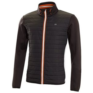Calvin Klein Golf Mens Strike-Tec Jacket – Noir/Orange – M