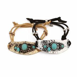 CHANNIKO-FR 82179 Bracelet Turquoise Décoration De Mode Femme Cadeau Accessoire Présent