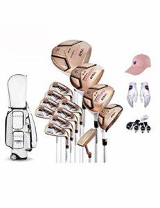 HDPP Club De Golf Collections.13 Clubs De Golf De Femmes D'Alliage De Titane pour La Tige De Conducteur, Axe De Carbone D'Ensemble Complet De Golf De FemmesB