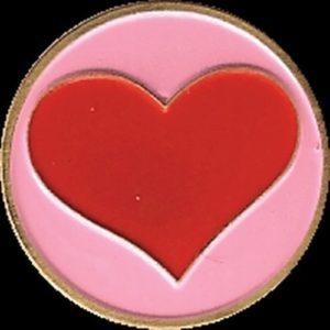 Marqueur de balle de Golf en forme de cœur en métal 1 position uniquement