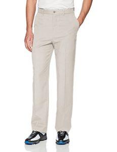 PGA TOUR Men's Flat Front Golf Pant with Expandable Waistband, Silver Cloud, 40X29
