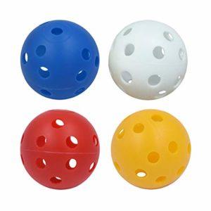 Vosarea 20pcs balles de Pratique de Golf en Plastique Creuses balles de Jeu entraînant des balles de Sport